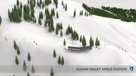 Rendering of the Squaw Valley angle station near KT-22.