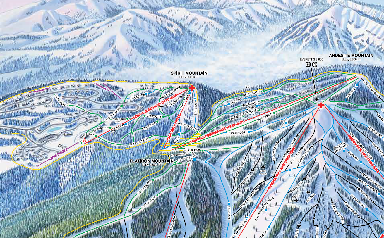 Lift Profile: Lewis & Clark at Big Sky, MT – Lift Blog on missoula map, united states map, montana map, big sky resort map, big sky mountain village map, new york map, lost trail powder mountain map, alpe d'huez map, bozeman map, google map, sugarloaf map, utah map,
