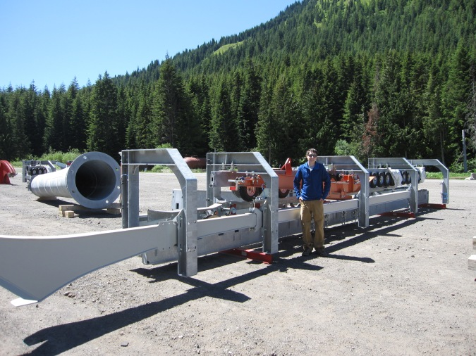Some big pieces for the Mt. Rainier Gondola at Crystal Mountain.