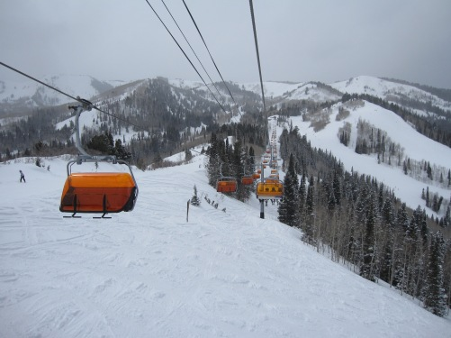Orange Bubble Express at Canyons Resort.