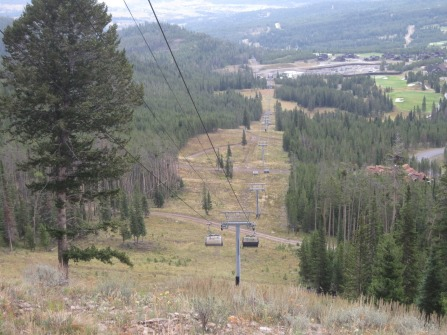 Summer view of the lift line.