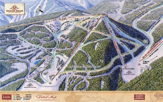 The original Spanish Peaks trail map from 2006.