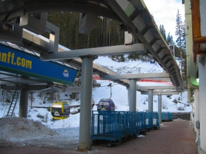 In addition to guests, the gondola transports workers, food, supplies and trash to and from Sunshine Village.