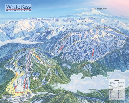 The Couloir Express is on the upper right of the White Pass trail map.