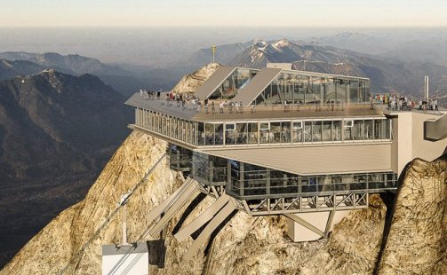Germany's highest mountain is getting a new tram.  Photo credit: Bayerische Zugspitzbahn Bergbahn AG