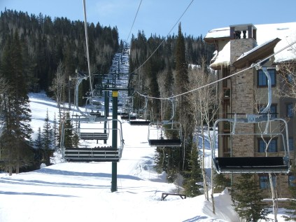 The most recent lift built with the angled sheave scheme is the Silver Strike Express at Deer Valley.
