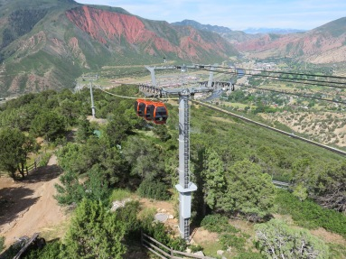 Three cabins near the summit of the Iron Mountain Tramway in Glenwood Springs, CO.