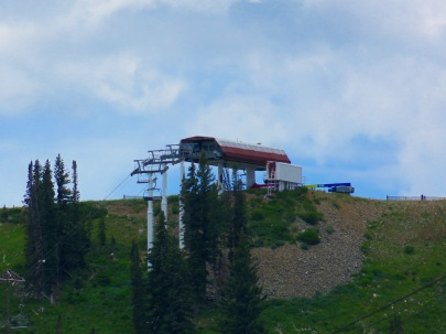 McConkey's six pack in the process of being repainted into the new Park City red and silver color scheme.