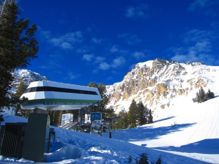 Snowbasin's Mt. Allen Tram, built for the 2002 Olympics, is the steepest lift in North America.