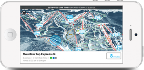 The EpicMix app will show lift wait times in minutes for major lifts at Vail's four Colorado resorts.