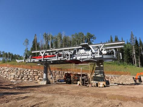 Drive terminal of Park City's new Quicksilver Gondola in The Colony.