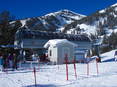 Casper has the best lift shacks on the mountain with lots of space.