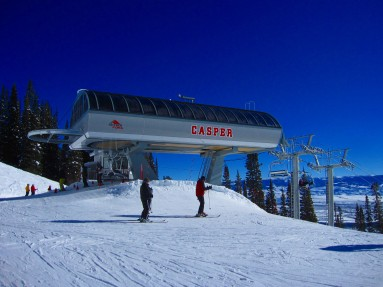 The Casper quad at Jackson Hole Mountain Resort replaced a triple chair in 2012.