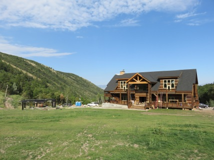 Cherry Peak's  brand new lodge and Gateway chairlift with three months to go until opening.