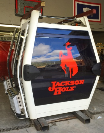 Poma Omega sample cabin  for Jackson Hole's new Sweetwater Gondola.
