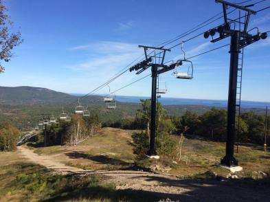 Camden Snow Bowl's new 30-year old Riblet chairlift.