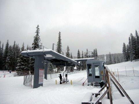 The Jubilee lift is one of six lifts at Ski Discovery, MT that came from other ski areas including Park City, Sun Valley,  Keystone, Mt. Bachelor and Ski Apache.
