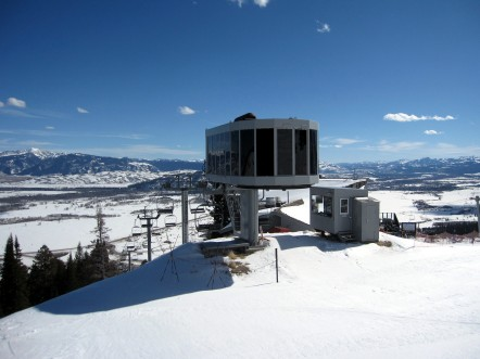 Jackson Hole's Sweetwater lift, originally built by Yan in 1983, is in its second state and third location.  Along the way it picked up some Poma chairs and Doppelmayr controls.