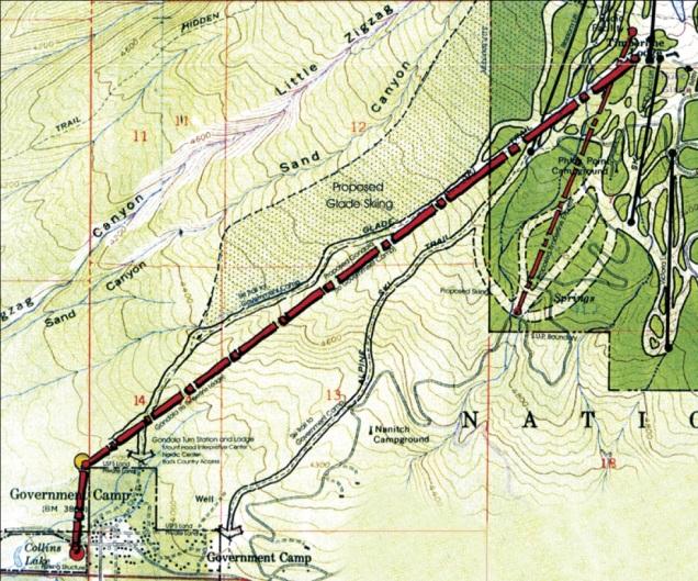 timberline gondola line