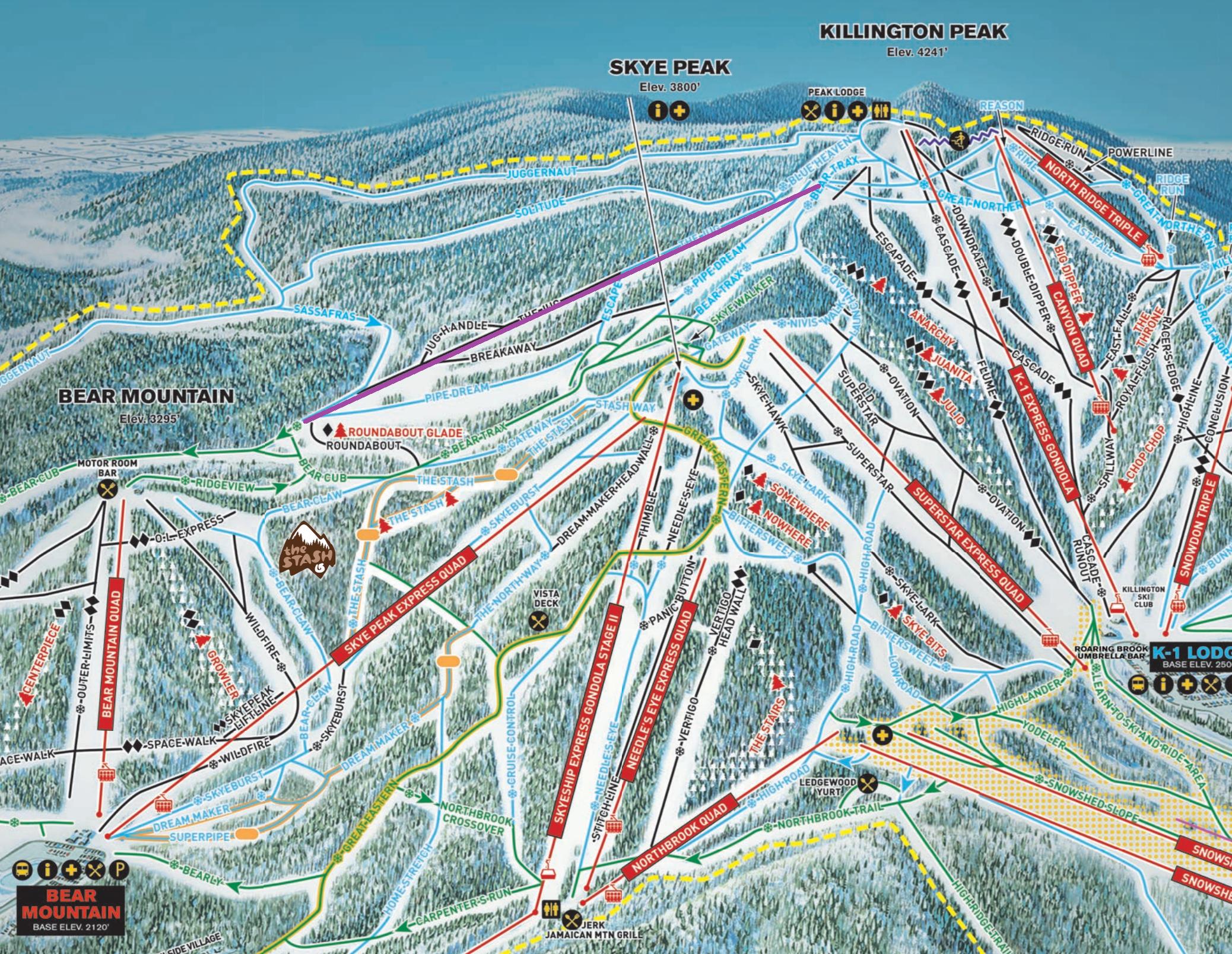 Killington Adding South Ridge Quad in 2018 – Lift Blog on stowe ski map, lutsen mountains ski map, north carolina ski map, marmot basin ski map, breckenridge ski map, cannon mountain ski map, okemo ski map, pico ski map, wild mountain ski map, connecticut ski map, mount snow ski map, mount kato ski map, bradford ski map, shawnee peak ski map, bretton woods ski map, greek peak ski map, diamond peak ski map, snowshoe mountain ski map, 49 degrees north ski map, tyrol basin ski map,