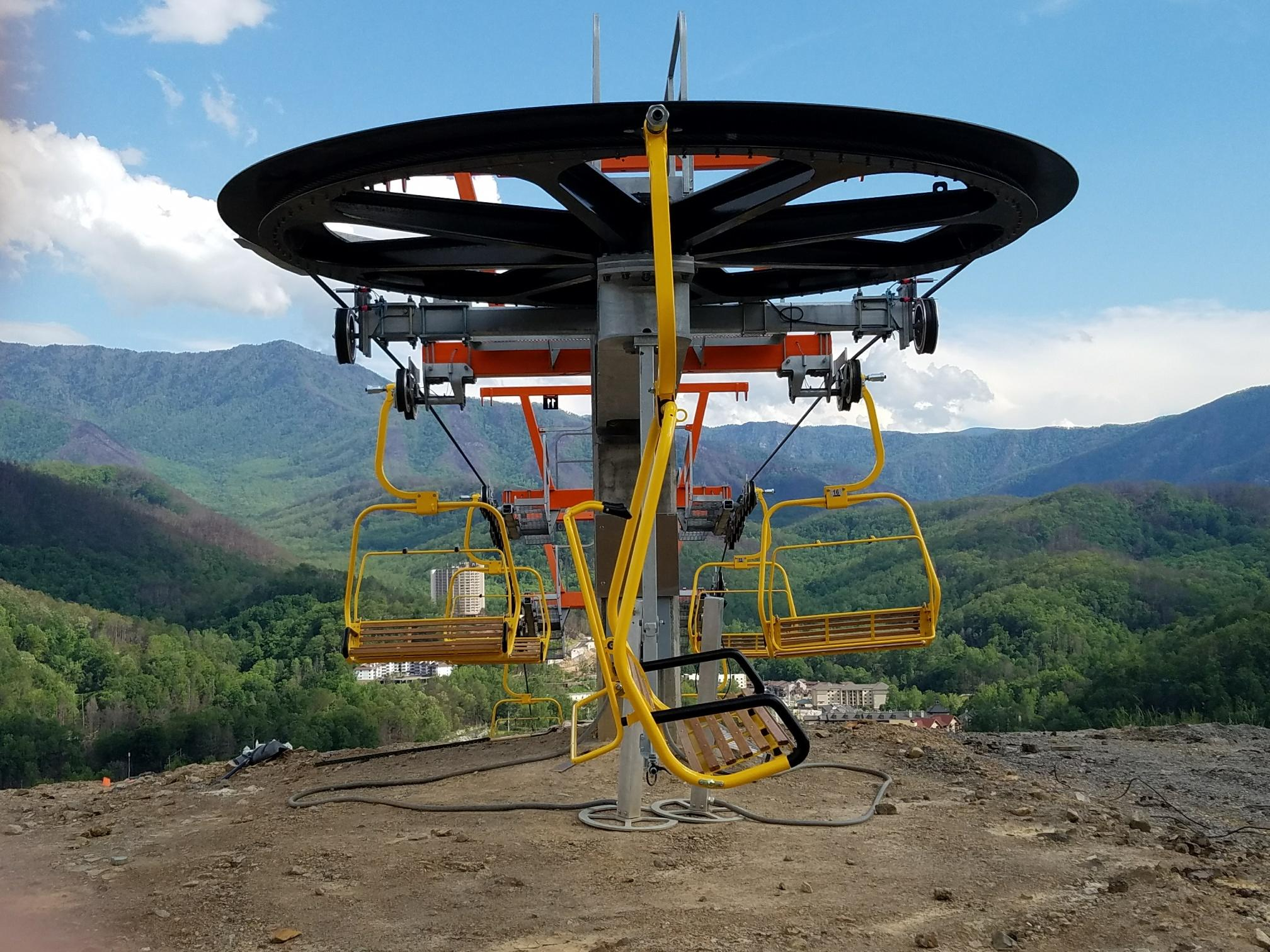 This New And Improved Gatlinburg Sky Lift Replaces A Riblet Double Chair  Destroyed By Wildfire On November 28th, 2016. Photos Credit: Everett Kircher