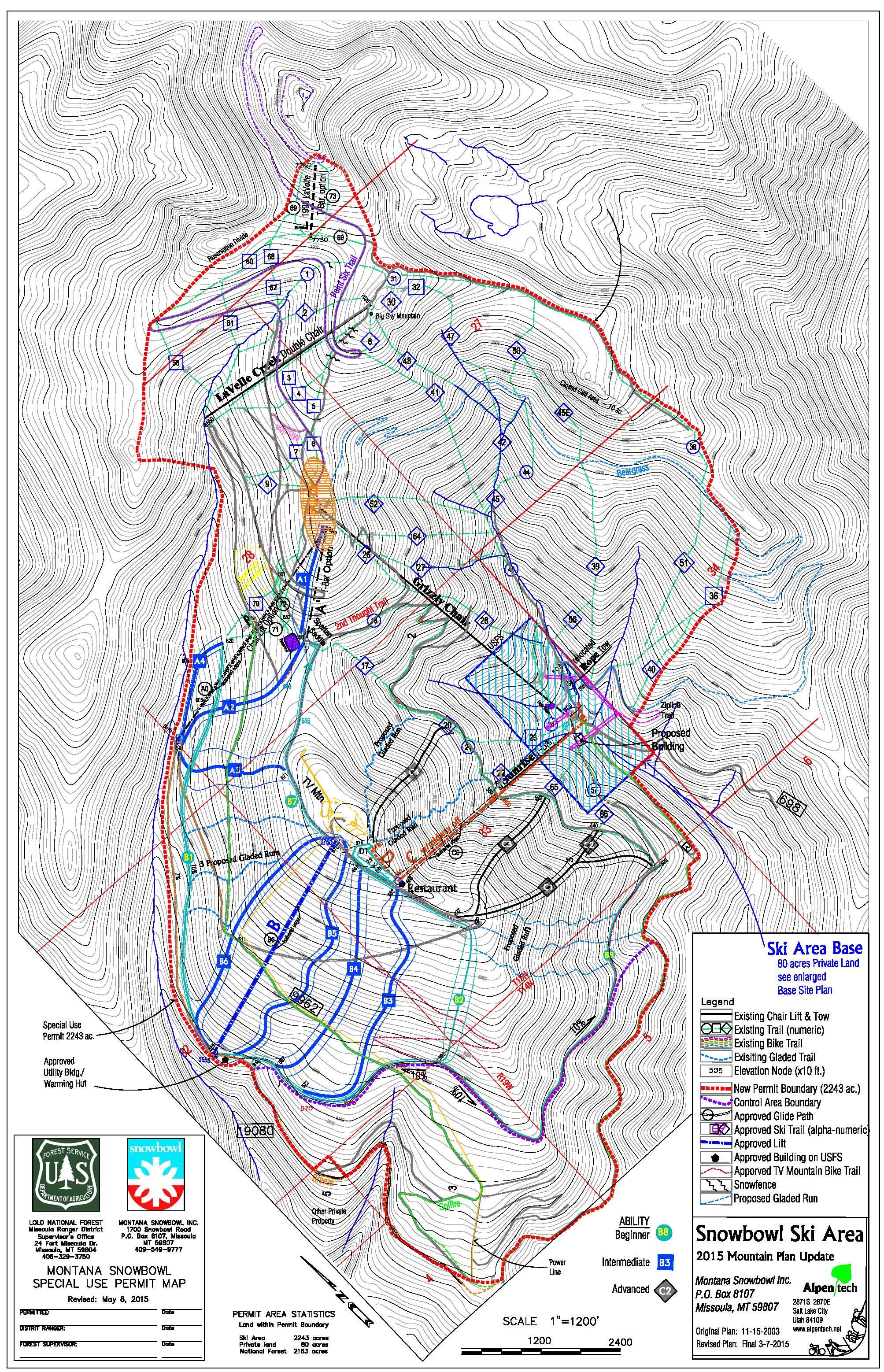 mdp-5-8-2015 Snowbowl Map on flagstaff ski bowl map, lost trail map, whitefish mountain resort map, flagstaff az map, bridger bowl map, the arizona trail map,